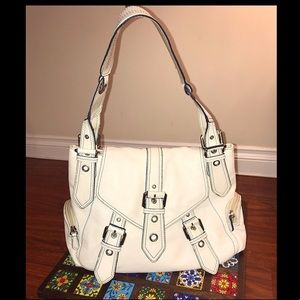 Wilson Leather White Shoulder Bag